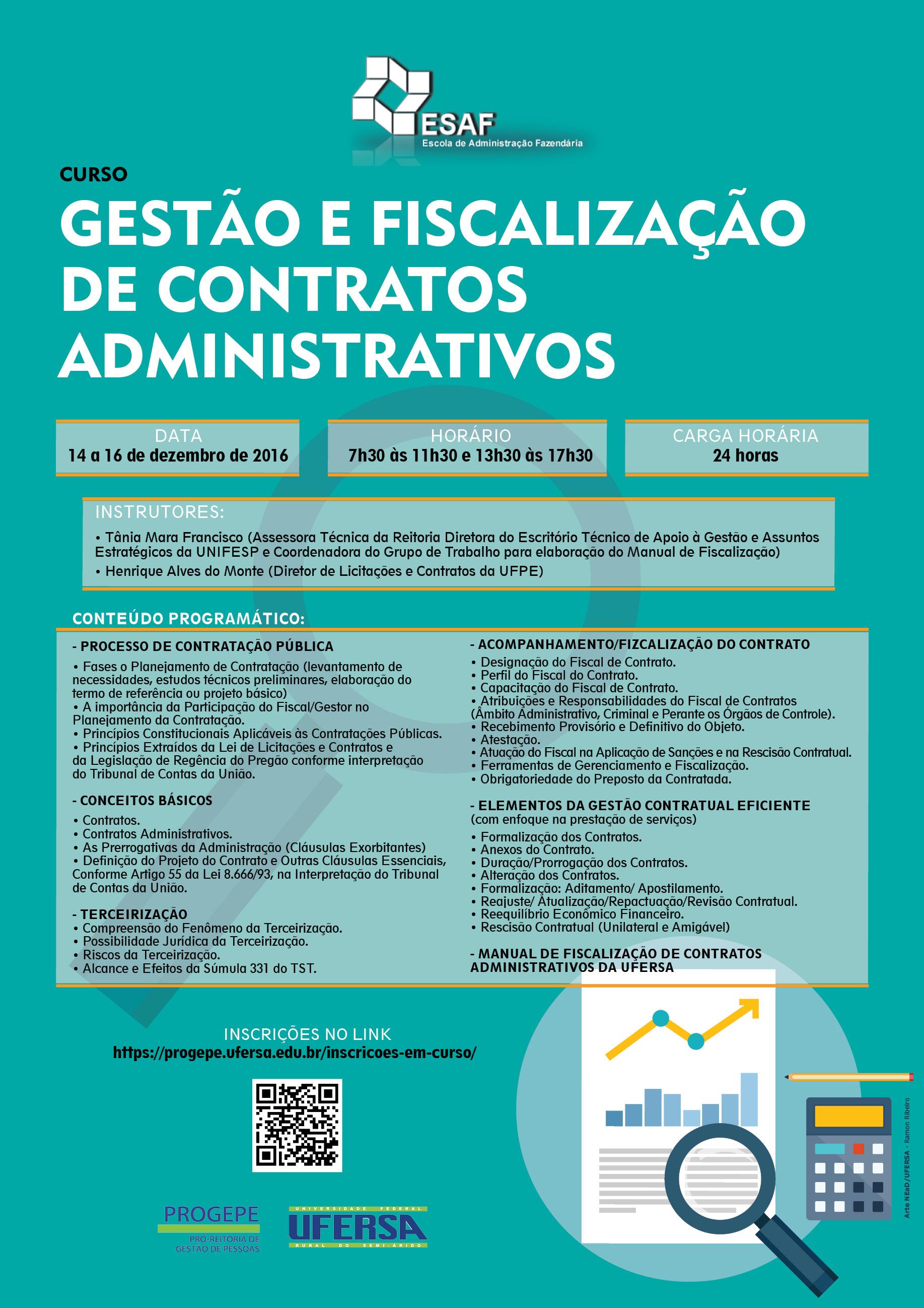 curso GESTÃO E FISCALIZAÇÃO